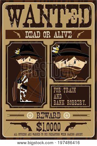 Cute Masked Cowboy Poster