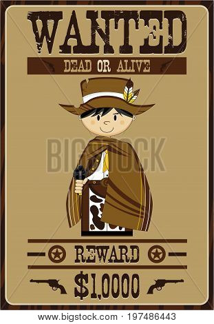 Cute Wanted Cowboy Poster