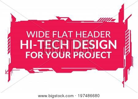 Hi-Tech wide element isolated on white background for your design