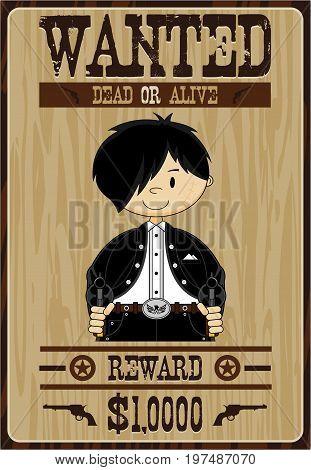 Mini Outlaw Cowboy Poster