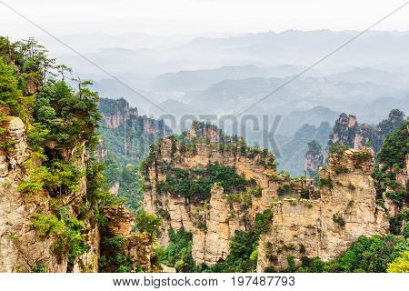 Scenic Narrow And Towering Wall Of Rock (avatar Mountains)