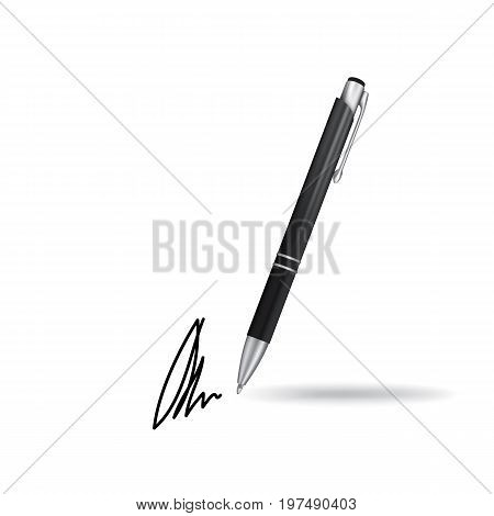 Ball Pen Ans Signature