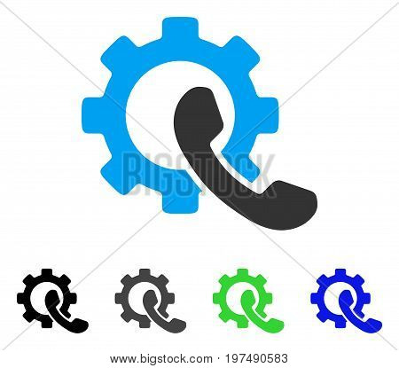 Phone Configuration flat vector pictogram. Colored phone configuration gray, black, blue, green pictogram variants. Flat icon style for web design.
