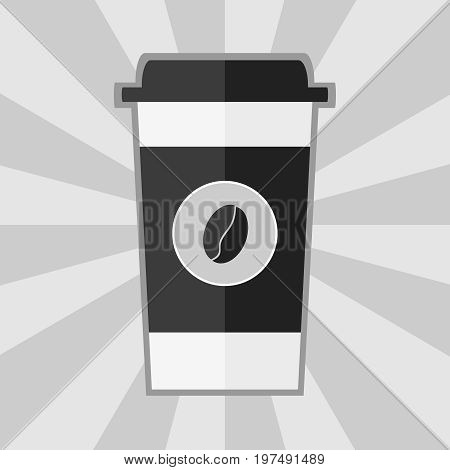A disposable cup of coffee an icon of a disposable cup for coffee. Flat design vector illustration vector.