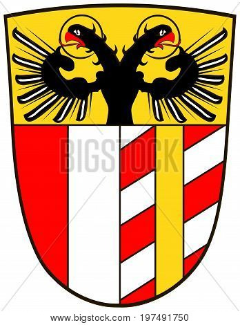 Coat of arms of Swabia is one of the seven administrative regions of Bavaria Germany. Vector illustration