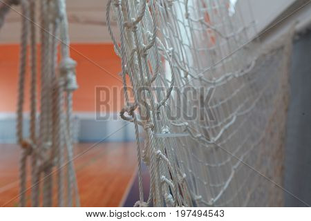 Basketball hall indoor wood parquet field room