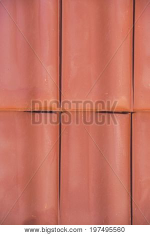 Closeup Of Clay Roof Tiles Background 6