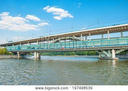 The Moscow. Metro bridge over Moscow River