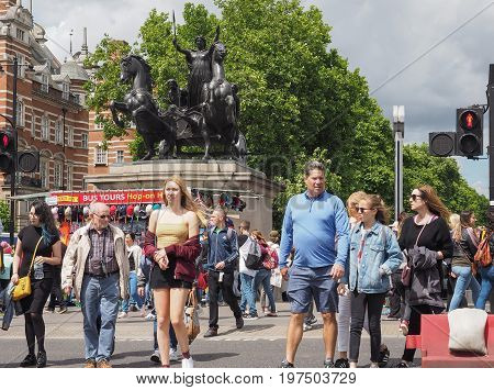 People In Central London