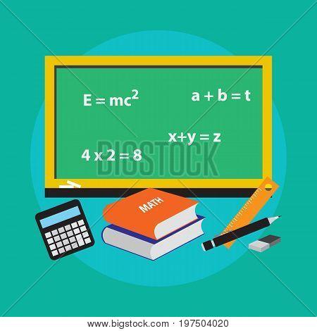 School concept math icon vector illustration design