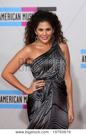 LOS ANGELES - NOV 21:  Hillary Scott arrives at the 2010 American Music Awards at Nokia Theater on November 21, 2010 in Los Angeles, CA