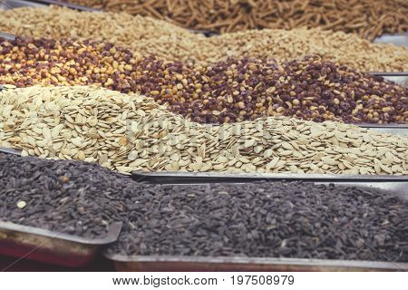 Roasted Seeds In Street Market 6