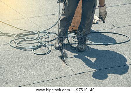 Torch Applying Bituminous Sheet