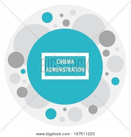 Vector Illustration Of Cinema Symbol On Cinema Administration Icon