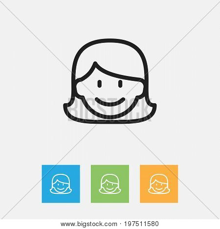 Vector Illustration Of Kin Symbol On Mom Outline