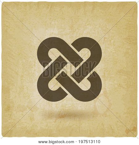 Solomon Knot Vintage Background