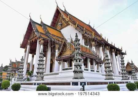 Ancient temples and churches,Buddhist temple,Is a royal temple in Bangkok, Thailand