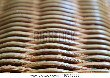 Texture and Pattern of Natural Color Rattan Furniture, Closed up with Selective Focus