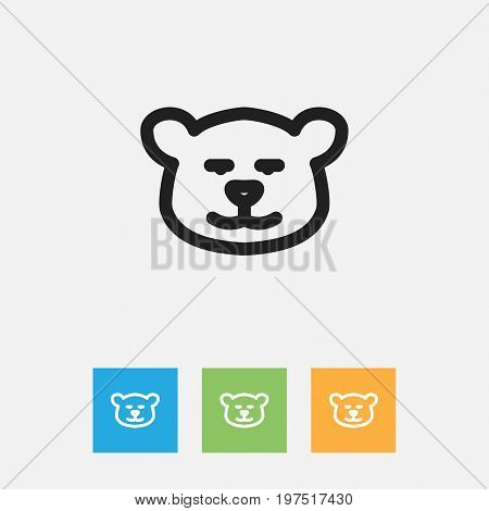Vector Illustration Of Zoo Symbol On Cougar Outline