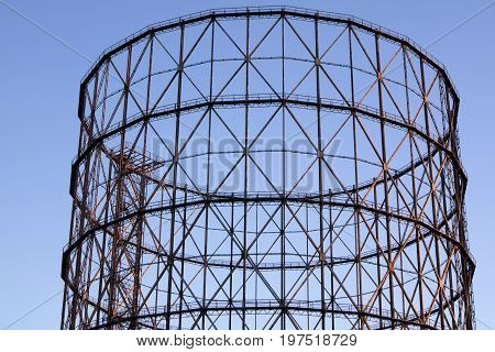Old Gasometer In Rome