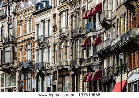 Editorial: 16Th April 2017: Brussels, Belgium. Old Architecture Of The City.