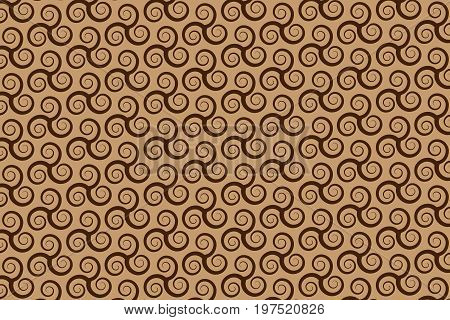 vector pattern with swirling triple spiral or Triskele , ancient Celtic symbol