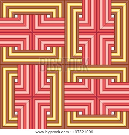 Seamless square yellow red tile background pattern
