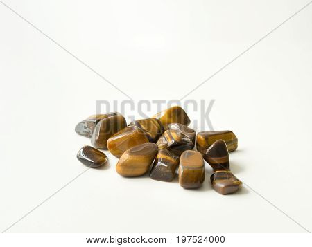 Tumbled Eye Of The Tiger Stones Group For Crystal Therapy Treatments And Reiki