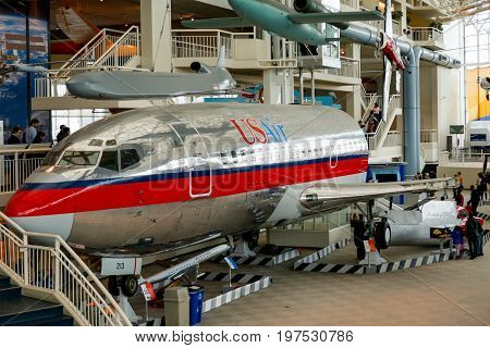 Seattle, Wa - April 8, 2017: A Space Museum In The Northwest United States - Museum Of Flight