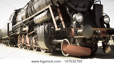 Polish Steam Locomotive With Tender.