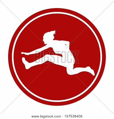 sports sign icon 100 m hurdles woman runner athlete