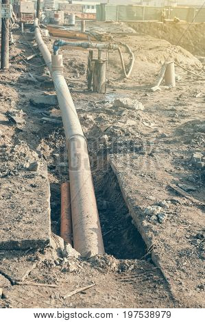 Dewatering System On Construction Site 2