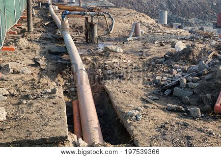 Dewatering System On Construction Site 3