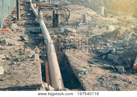 Dewatering System On Construction Site 4