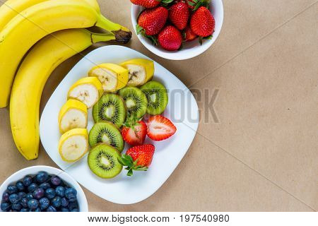 Appetizing Set Of Fresh Fruits