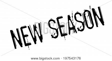 New Season rubber stamp. Grunge design with dust scratches. Effects can be easily removed for a clean, crisp look. Color is easily changed.