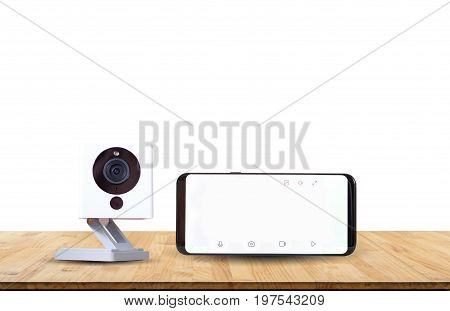 CCTV camera ip camera record with clipping path on white background