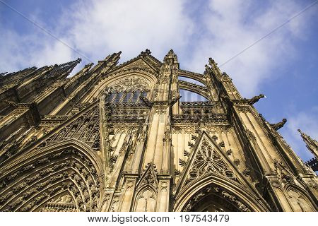 Cologne Cathedral. World Heritage - a Roman Catholic Gothic cathedral in Cologne.