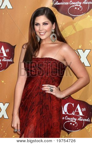LOS ANGELES - DEC 6: Hilary Scott of Lady Antelbellum arrives at the 2010 American Country Awards at MGM Grand Garden Arena on December 6, 2010 in Las Vegas, NV.