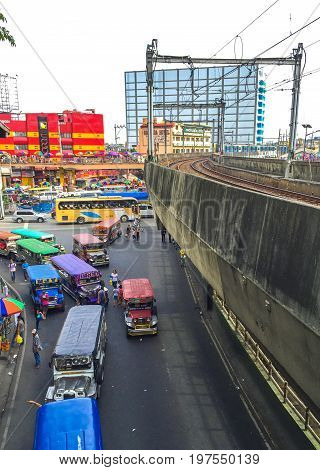 Manila Philippines - July 19 2015 : Taft Avenue-EDSA intersection in Pasay Manila