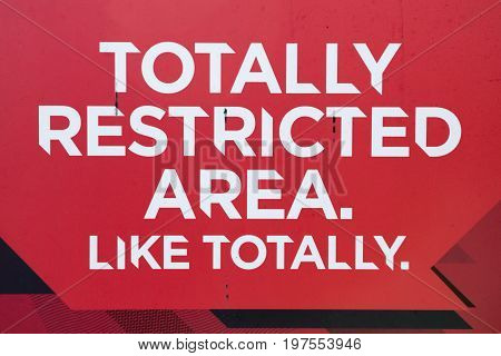 Totally Restricted Area