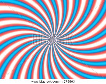 Optical Illusion Hypno Red Blue