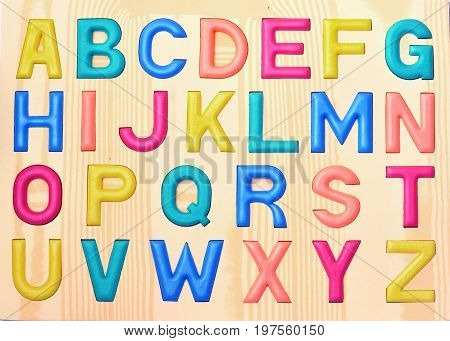 Image of Wooden with letter ABC .
