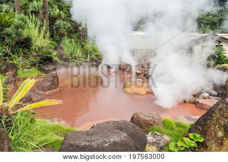 umi jigoku hot spring in Beppu Kyushu Japan