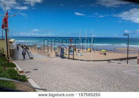 Areia Branca Beach In Lourinha, Portugal.