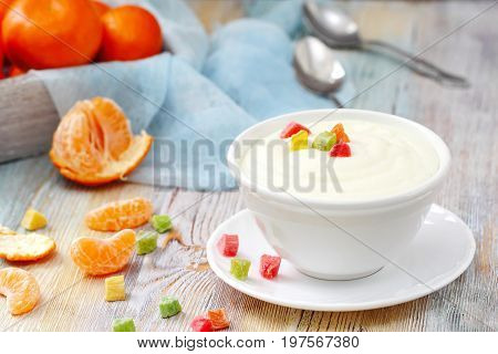Semolina With Candied Fruit