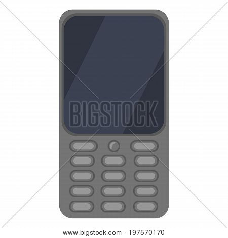 Vector Color Flat Icon - Cellphone With Keyboard