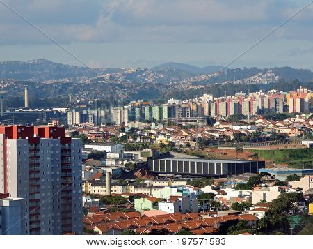 Panoramic view of the Santo Andre and Maua cities, Brazil
