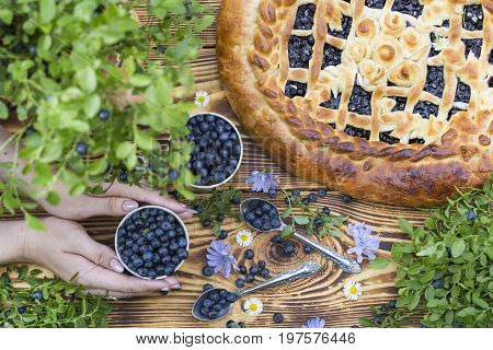 Yeast Cake With Blueberries