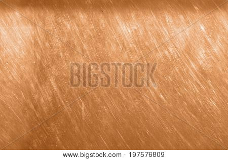 Bronze Or Copper Metal Texture Background. Scratched Bronze Brown Texture Seamless.